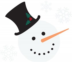 Snowman Snowflakes Print Art