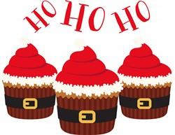 Ho Ho Ho Cupcakes Print Art