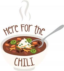 Here For Chili Print Art
