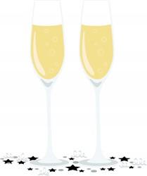 Champagne Glasses Print Art
