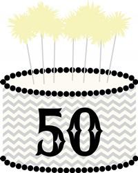 50th Birthday Print Art