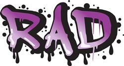 RAD Graffiti Print Art