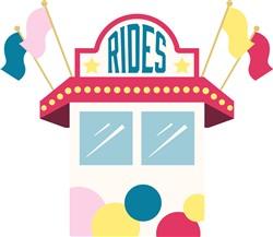 Rides Ticket Booth Print Art