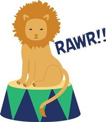 Lion Rawr Print Art