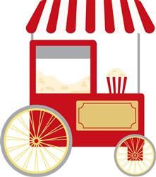 Popcorn Cart Print Art