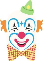 Clown Face Print Art