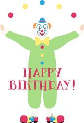 Happy Birthday Clown Print Art