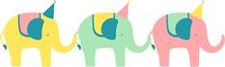 Party Elephants Print Art