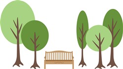 Park Bench Trees Print Art