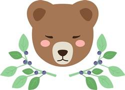 Bear Face Print Art