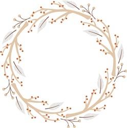 Branch Wreath Print Art