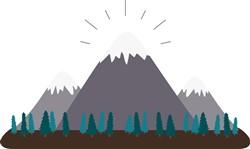 Mountain Range Print Art