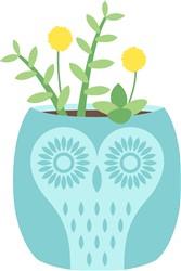 Owl Planter Print Art