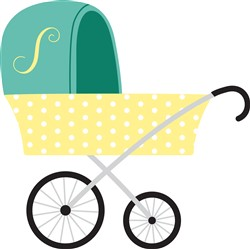 Baby Carriage Print Art