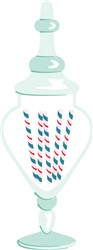 Candy Cane Jar Print Art