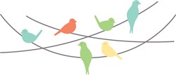 Birds On Wire Print Art