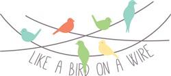 Bird On Wire Print Art
