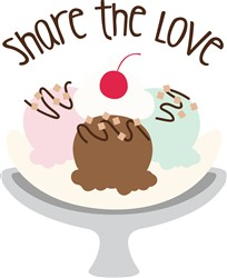 Share Love Print Art
