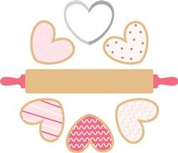 Valentine Cookies Print Art
