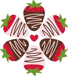 Chocolate  Strawberries Print Art