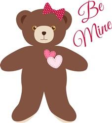 Be Mine Bear Print Art