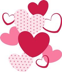 Valentine Hearts Print Art