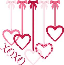 XOXO Hearts Print Art