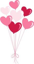 Valentine Balloons Print Art