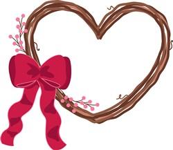 Valentine Wreath Print Art