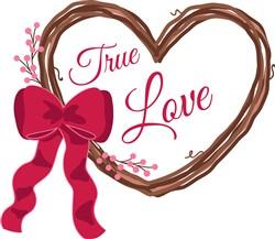 True Love Wreath Print Art