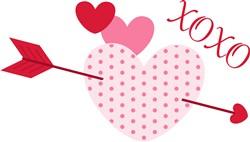 XOXO Heart Print Art