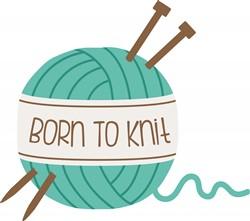 Born To Knit Print Art