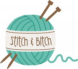 Stitch & Bitch Print Art