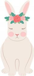 Floral Bunny Print Art