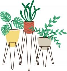 Potted Plants Print Art