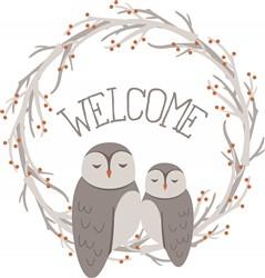 Owl Welcome Print Art