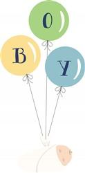 Boy Balloons Print Art