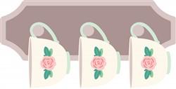 Floral Tea Cups Print Art
