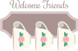 Welcome Friends Print Art