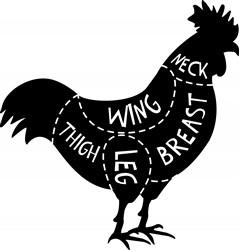 Chicken Meat Print Art