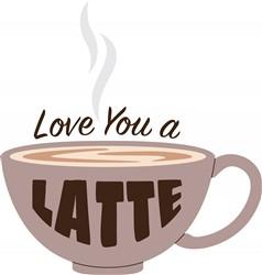Love You Latte Print Art