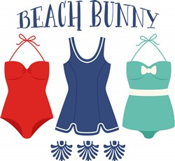 Beach Bunny Print Art