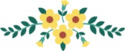 Yellow Flowers Print Art