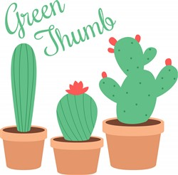 Green Thumb Print Art