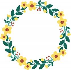 Floral Wreath Print Art