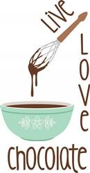 Love Chocolate Print Art