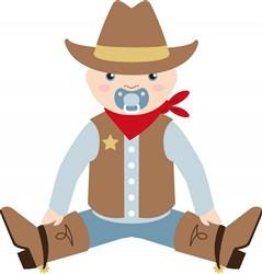 Baby Cowboy Print Art