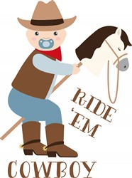 Ride Em Cowboy Print Art