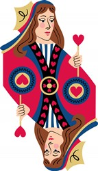 Queen Of Hearts Print Art