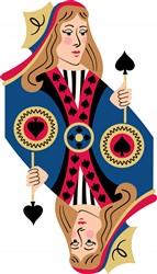 Spades Queen Print Art